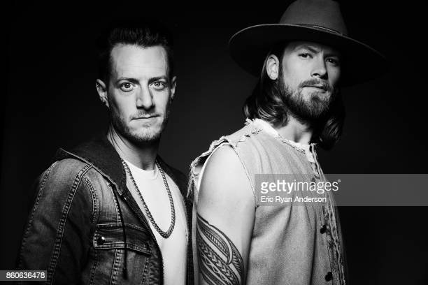 American country pop duo Brian Kelley and Tyler Hubbard known as Florida Georgia Line are photographed at the 2017 CMA Festival for Billboard...