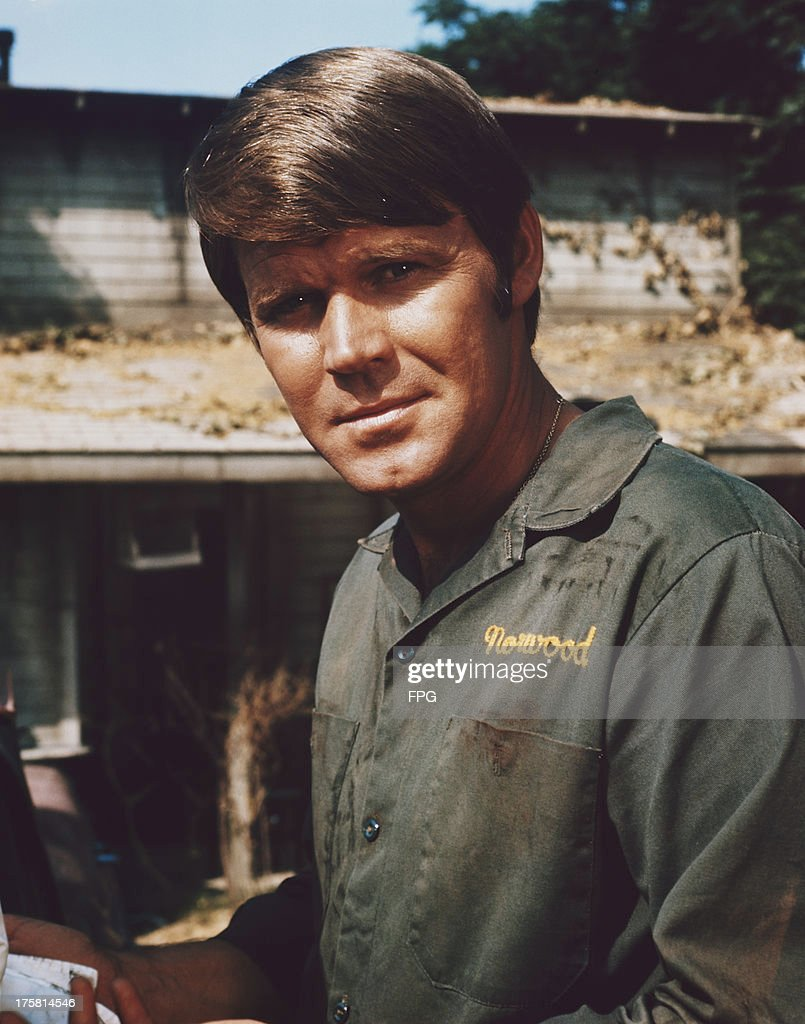 American country singer and actor Glen Campbell on the set of the film 'Norwood', 1970.