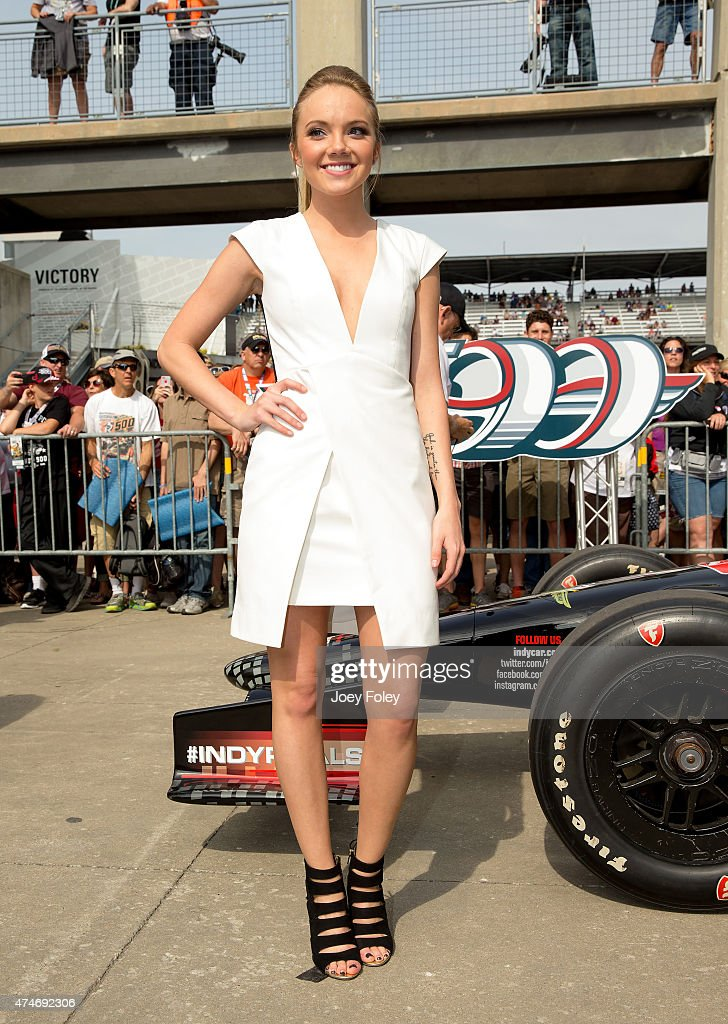 American country singer, Danielle Bradbery attends the 2015 Indy 500 at Indianapolis Motorspeedway on May 24, 2015 in Indianapolis, Indiana.