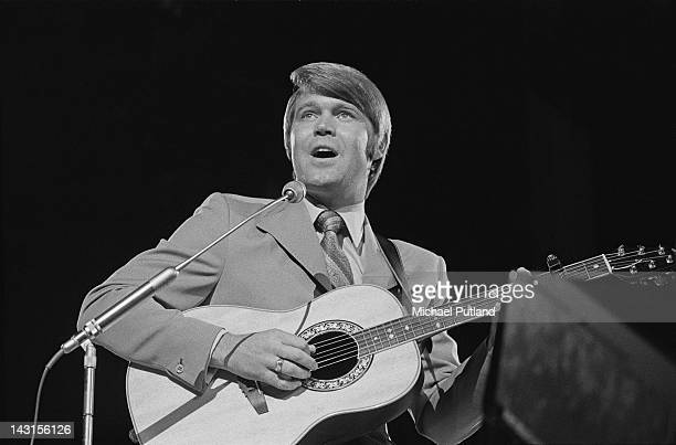 American country singer Glen Campbell performing on the BBC's 'Young Generation' TV show, UK, circa 1970.
