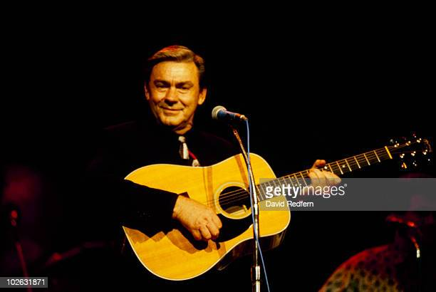 American country singer Jim Ed Brown performs on stage circa 1980