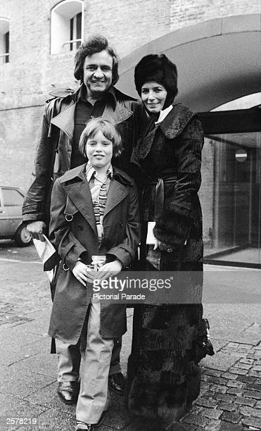American country singer Johnny Cash poses with his wife June Carter Cash and their son John Carter Cash in Copenhagen Denmark January 1979