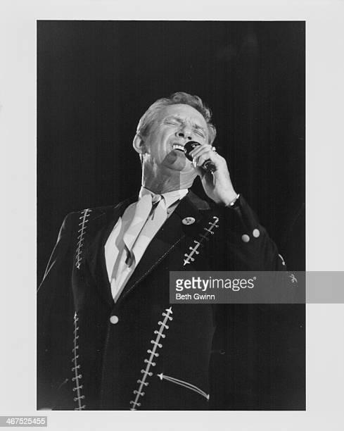 American country singer Mel Tillis on stage circa 1990