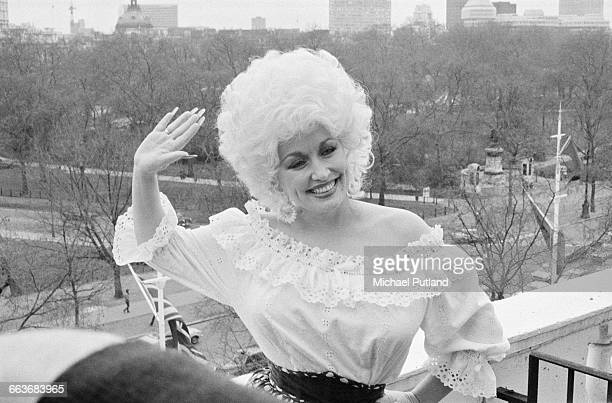 American country singersongwriter Dolly Parton in London 1983