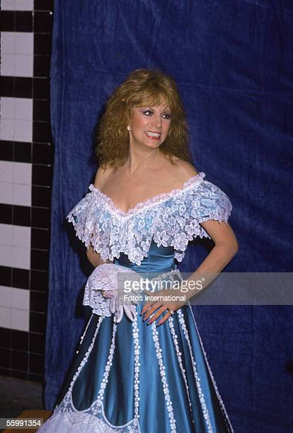 American Country Western music performer Dottie West attends the Country Music Association Awards ceremony October 10 1983