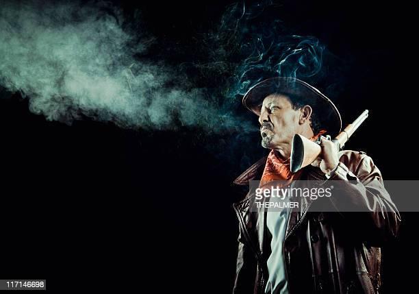 american cowboy smoking