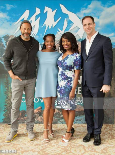 'American Crime' Executive Producer Writer and Director John Ridley Actor Regina King ABC Studios SVP Drama Development Nne Ebong and ABC Studios...