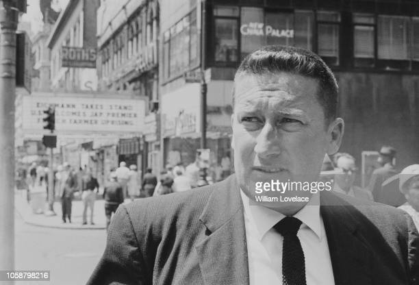 American crime novelist Mickey Spillane in Broadway New York City US 27th June 1961
