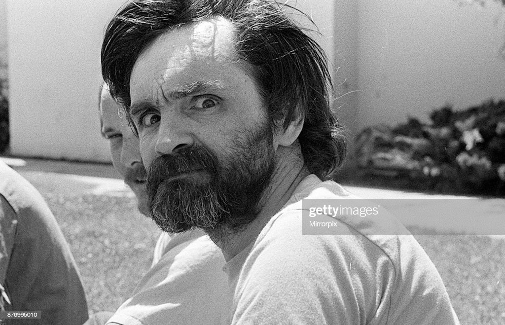 American criminal Charles Manson, the man who murdered Sharon Tate, at California Medical Facility, Vacaville, Solano County, California, US, August 1980.