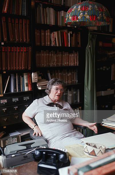 American cultural anthropologist Margaret Mead in her office at the American Museum of Natural History in New York where she is assistant curator 5th...