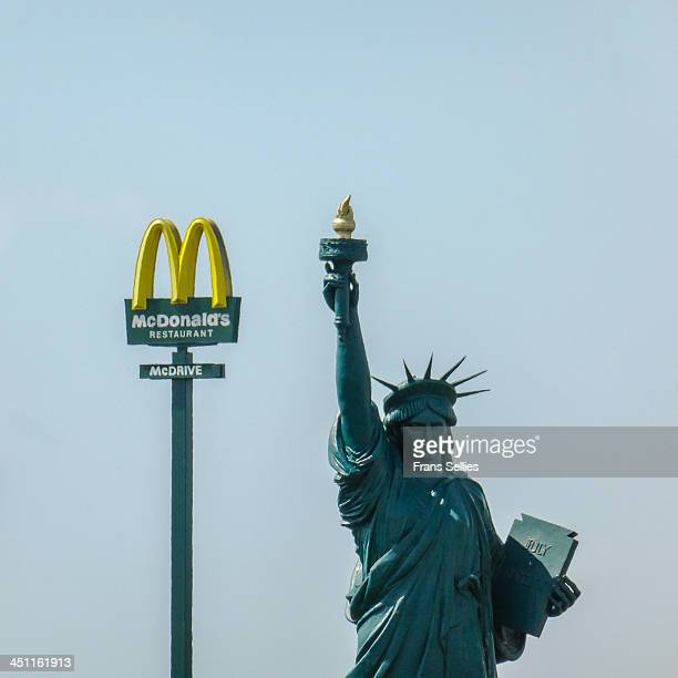 American culture in a nutshell. This replica of the statue of Liberty was made for a French movie, Le Cerveau , directed by Gérard Oury and featuring...