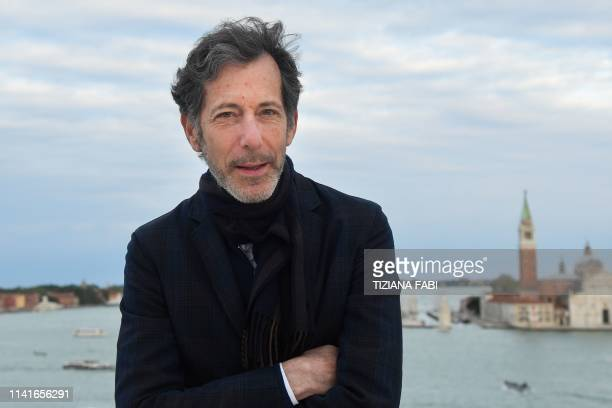American curator Ralph Rugoff Curator of the 58th International Art Exhibition of the Venice Biennale poses on May 6 2019 in Venice The 58th...