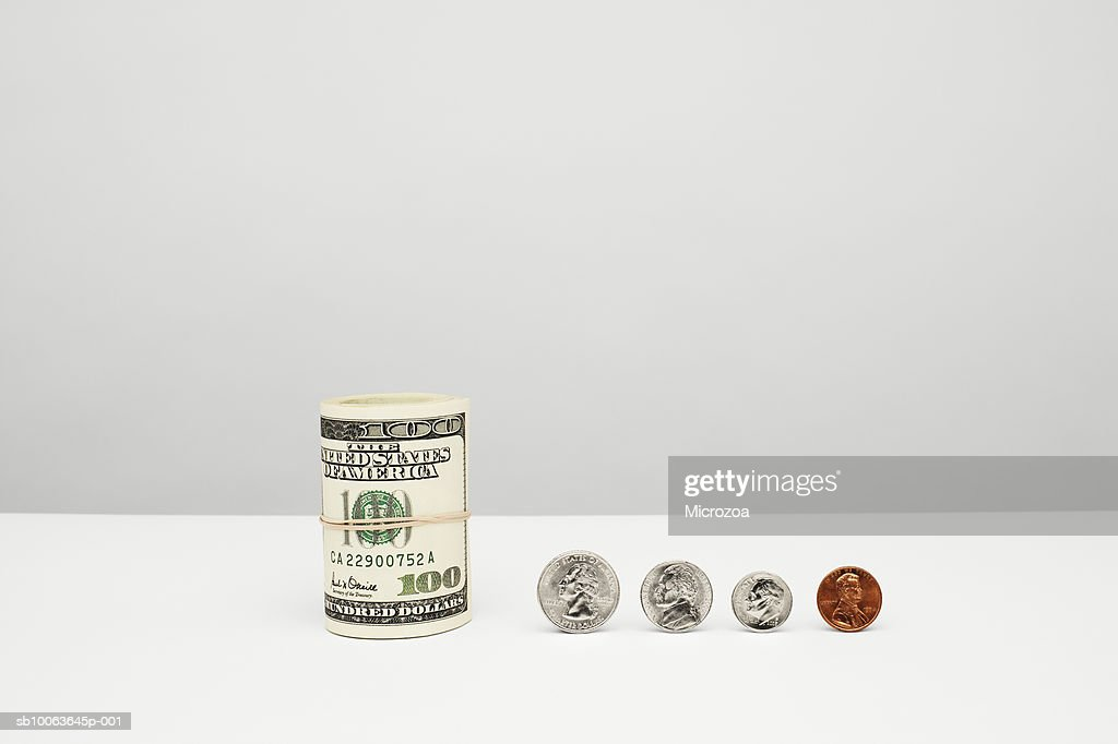 American currency, close-up : Stock Photo