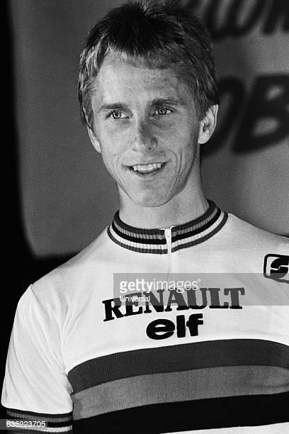 American cyclist Greg LeMond during the 1984 Tour de France.