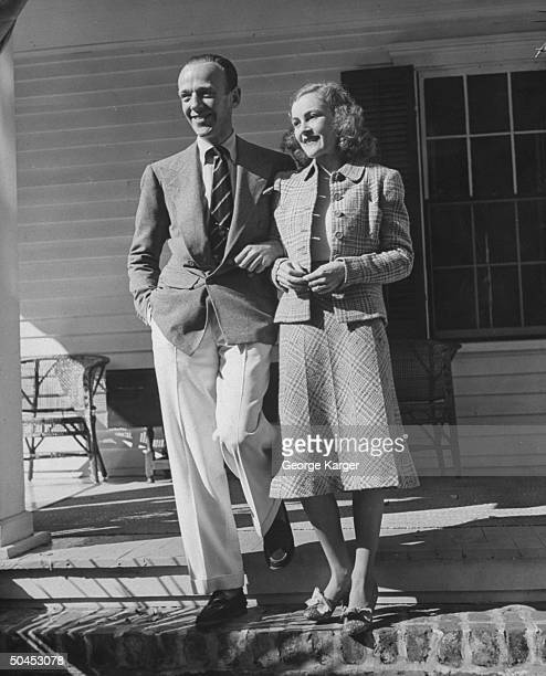 American dancer actor and entertainer Fred Astaire and his wife Phyllis Astaire