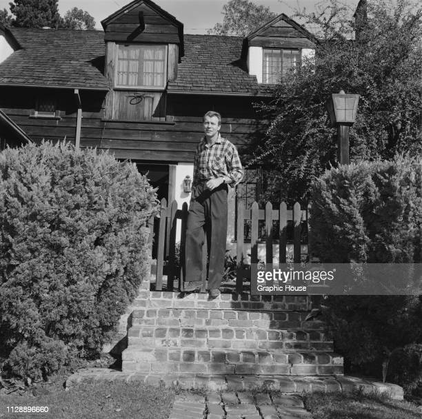 American dancer actor screenwriter and director Gene Nelson at home US 21st December 1955