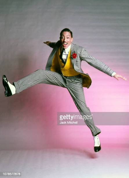 American dancer, actor, singer, and choreographer Gregory Hines in costume for his starring role in 'Sophisticated Ladies' on Broadway, studio photo...