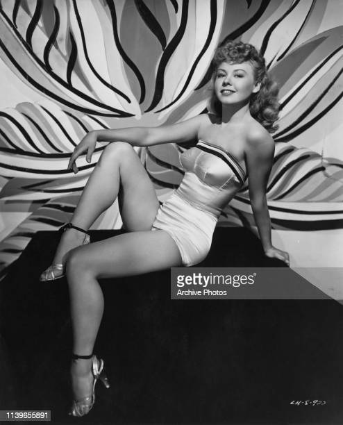 American dancer and actress VeraEllen circa 1949 She is appearing in the Marx Brothers comedy film 'Love Happy' as Maggie