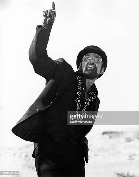 American dancer and choreographer Bob Fosse on the set of the film 'The Little Prince' in Tunisia 1974 He plays the part of The Snake