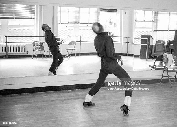 American dancer and choreographer Bob Fosse works out routines alone at the Broadway Arts Studio New York New York January 30 1980