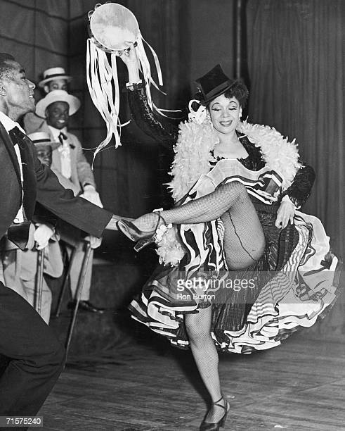 American dancer and choreographer Katherine Dunham and Ranoye Aikens rehearsing for Dunham's new show at the Cambridge Theatre 10th January 1952
