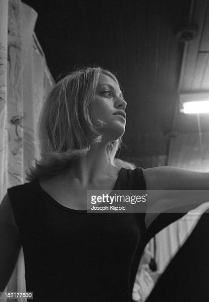 American dancer, and future actress, Goldie Hawn stretches during a practice session at the Wally Saunders Dance Studio, Baltimore, Maryland, May 28,...