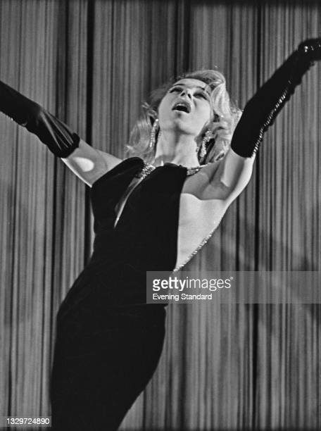 American dancer and striptease artist Kathy Keeton , UK, 5th June 1965.