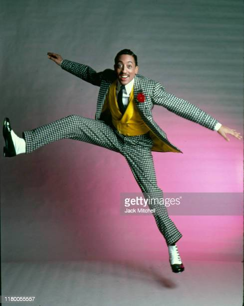American dancer, choreographer, and actor Gregory Hines dances in costume for his role in 'Sophisticated Ladies' , New York, New York, early 1980s.