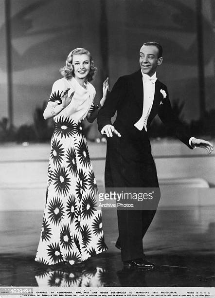 American dancers singers and actors Ginger Rogers and Fred Astaire in a scene from 'Shall We Dance' directed by Mark Sandrich 1937