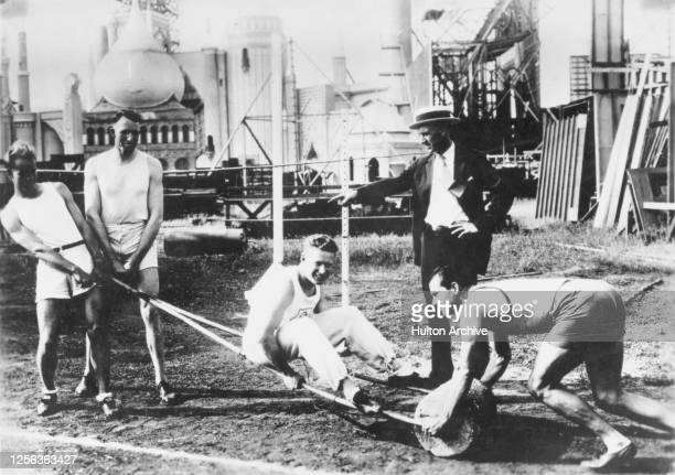 American decathlete and actor Chuck Lewis American high jumper Alma Richards American sprinter Charley Paddock American coach Boyd Comstock and...