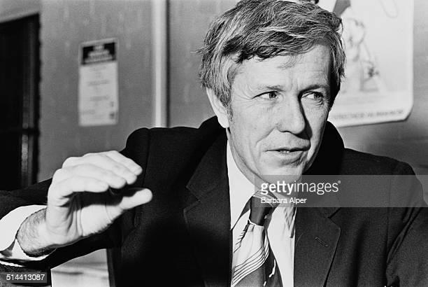 American democratic socialist, writer, political activist, and political theorist, Michael Harrington , Boston, USA, 11th December 1977.