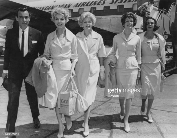 American designer Don Loper arrives at London Airport for a fashion show at the British-American Ball at the Dorchester Hotel in London, 20th June...