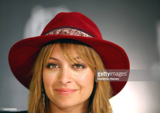 American designer Nicole Richie during an autograph signing at a House of Harlow launch event at David Jones Elizabeth Street on May 26 2012 in...