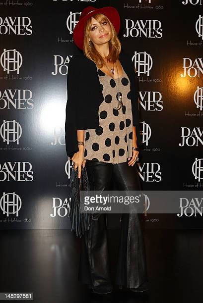 American designer Nicole Richie poses at a House of Harlow launch event at David Jones Elizabeth Street on May 26 2012 in Sydney Australia
