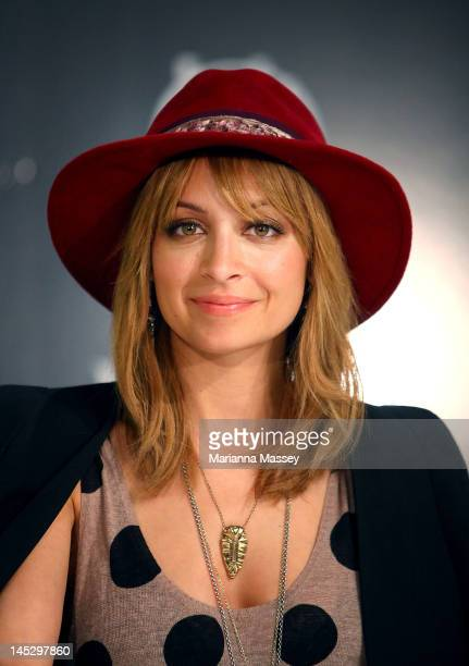American designer Nicole Richie poses for pictures at a House of Harlow launch event at David Jones Elizabeth Street on May 26 2012 in Sydney...