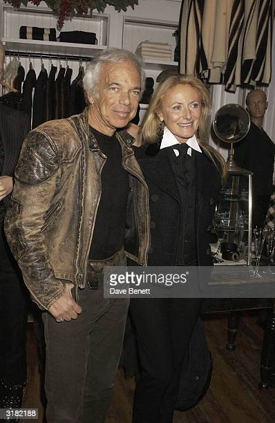 American designer Ralph Lauren and wife Ricky attend the opening of his new shop on 10th December in London