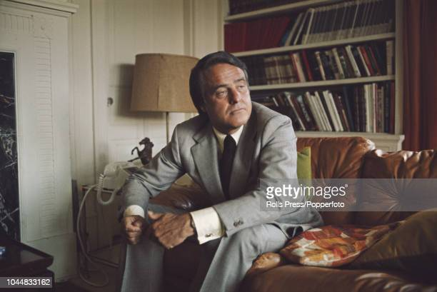 American diplomat and the Democratic Party's nominee for Vice President Sargent Shriver pictured during the 1972 presidential election campaign in...