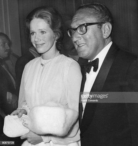 American diplomat Henry Kissinger and Norwegian actress Liv Ullmann attend an American Film Industry dinner in Hollywood held in honour of director...