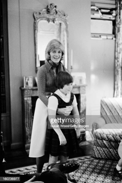 American diplomat Jean Kennedy Smith holds her daughter Amanda Smith in their Upper West Side town house New York New York 1976