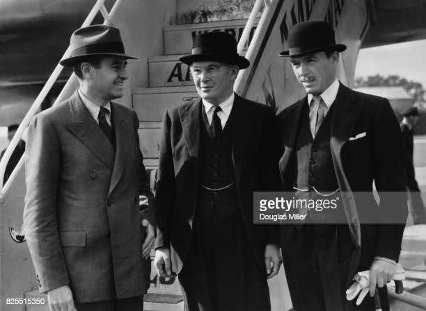 American diplomat W Averell Harriman the US Ambassador to the United Kingdom leaves by air for America to take up his new office as US Secretary of...