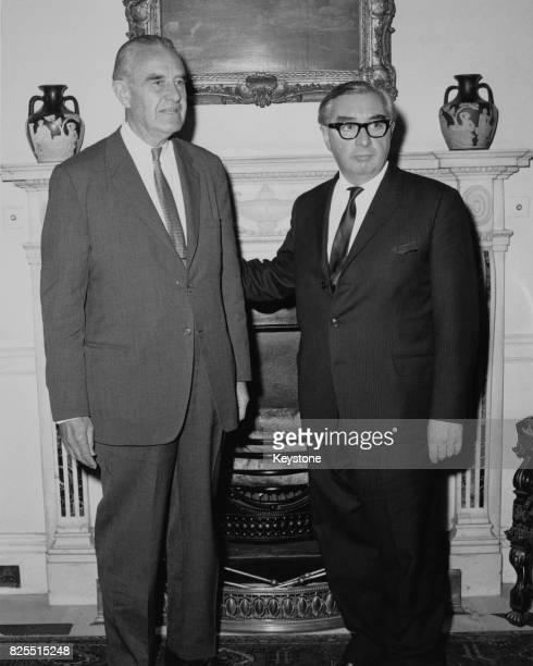 American diplomat W Averell Harriman with George Brown the British Foreign Secretary circa 1967