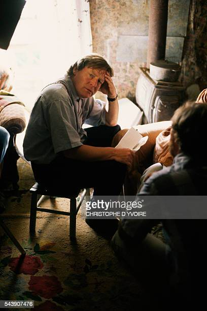 American director Alan Parker on the set of his film Mississippi Burning