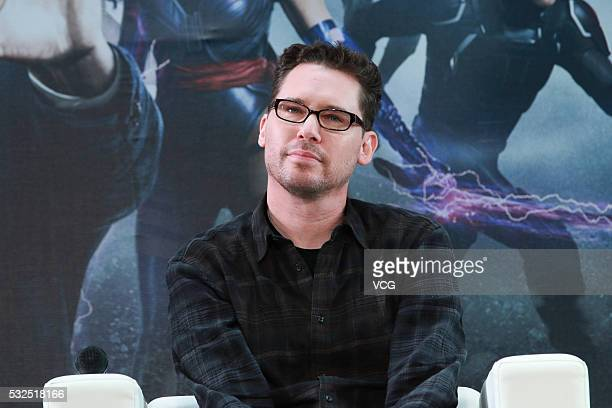 American director and producer Bryan Singer attends Tsinghua campus visit for new movie XMen Apocalypse on May 18 2016 in Beijing China