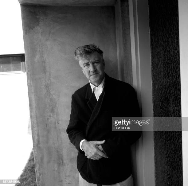 American director and screenwriter David Lynch on the set of his movie Mulholland Dr..
