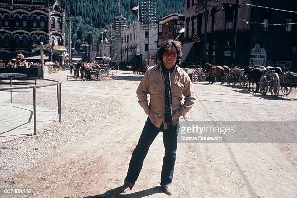 American director and screenwriter Michael Cimino on the set of his movie Heaven's Gate