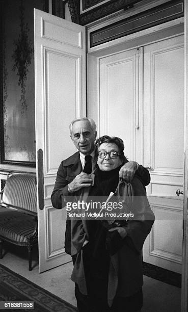 American director and stage director Elia Kazan and French writer Marguerite Duras