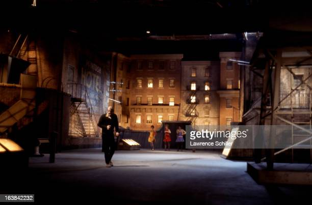 American director dancer and choreographer Bob Fosse demonstrates a scene for his actors on the set of the film 'Sweet Charity' at Universal Studios...