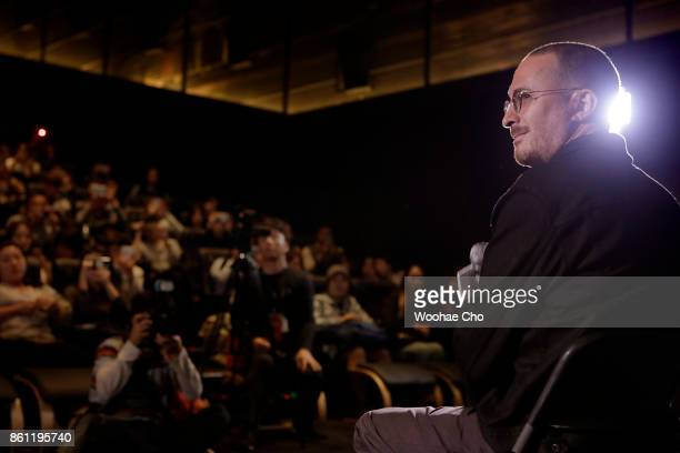 American director Darren Aronofsky listens questions from the audience at the postscreening QA of 'mother' during the Busan International Film...
