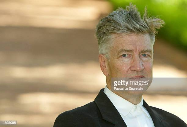 American director David Lynch poses during a photo call in the garden of the Mamounia Hotel during the 2002 Marrakech International Film Festival...