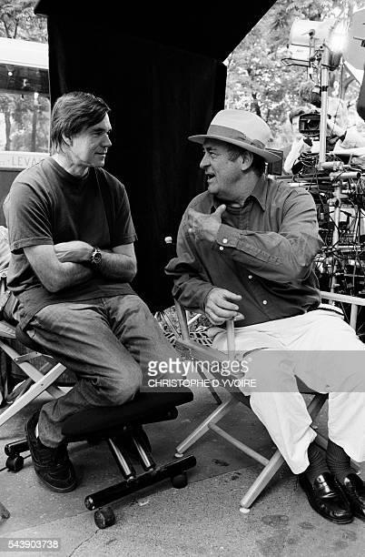 American director Gus Van Sant visits Italian director Bernardo Bertolucci on the set of Bertolucci's film The Dreamers While visiting the set Gus...